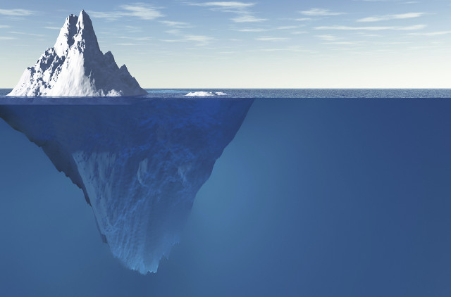 Tip of the iceberg: beneath the 'surface web'