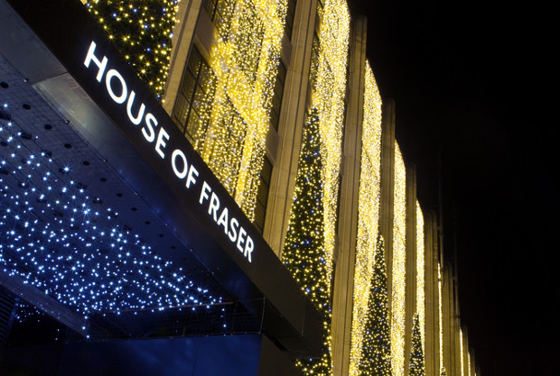 House of Fraser to sell goods on Tesco's website